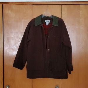 L.L.Bean Vintage Wool lined Barn Jacket Sz M EUC